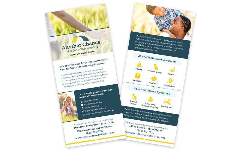 Examples of Another Chance print brochures