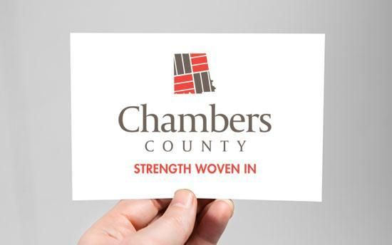 Chambers County Strength Woven In branding material
